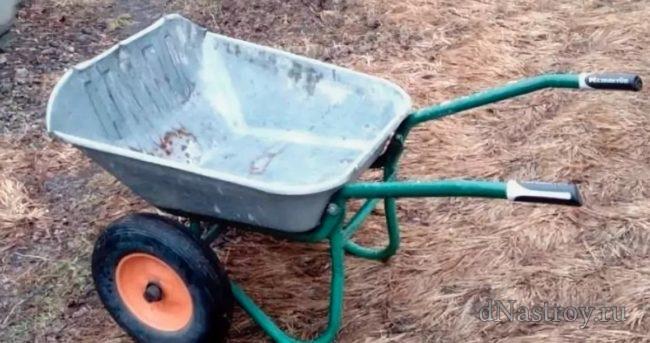 садовая тачка на двух колесах